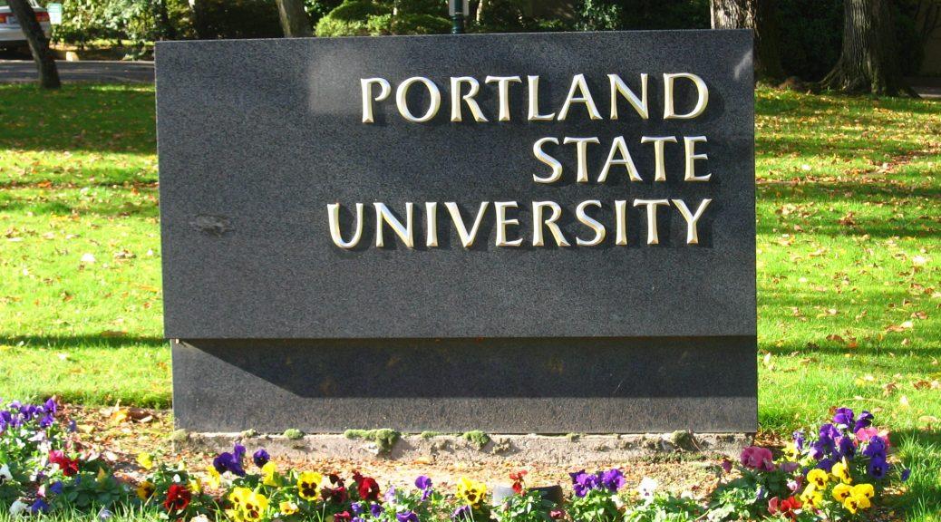 Portland State University sign
